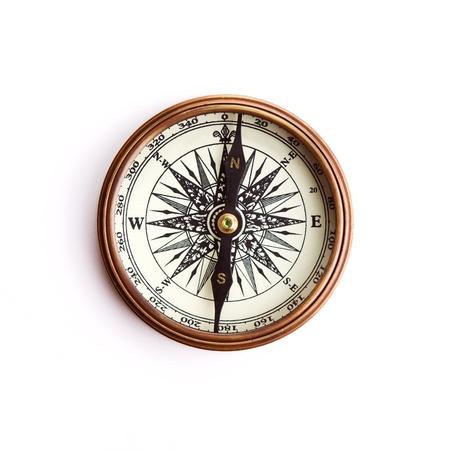 ir�ny: Vintage brass compass