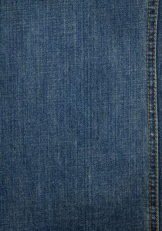 Blue denim texture with stitch photo