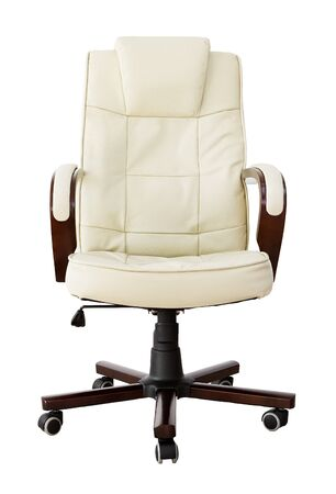 congressman: Leather office chair  Stock Photo