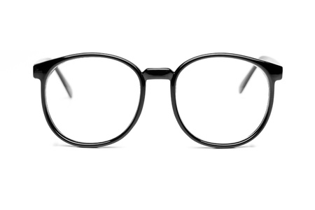 Black nerd glasses isolated on white Stock Photo - 9970429