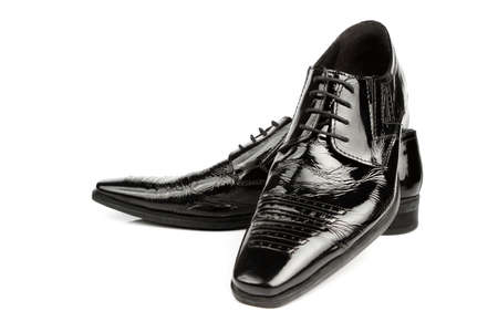 Black shiny leather shoes photo