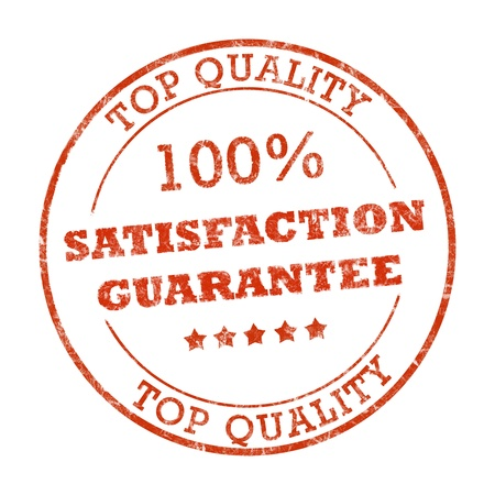 Satisfaction guarantee rubber stamp photo