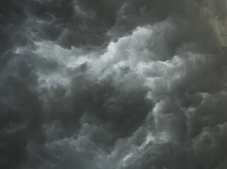 Dramatic stormy clouds photo