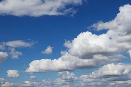 Calm fluffy clouds wallpaper Stock Photo - 10109143