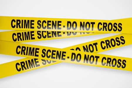 Crime scene yellow tapes  photo
