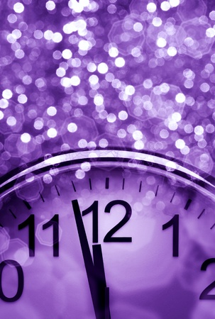 pretty s shiny: Purple New Years abstract background