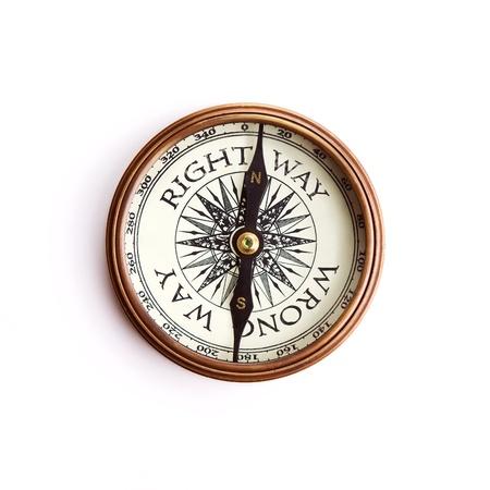 freccia destra: Diritto Way-Sbagliato concetto Way, isolato con tracciati di ritaglio