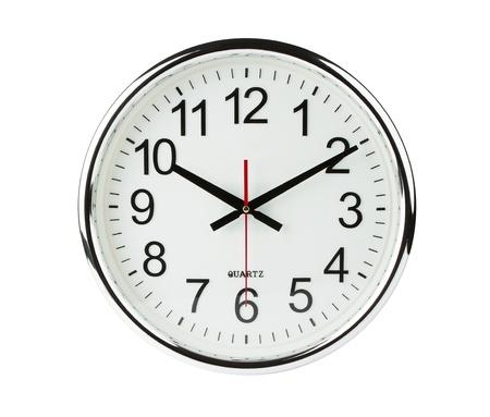 Zegar samodzielnie na biaÅ'ym tle ze Å›cieżkÄ… przycinajÄ…cÄ… Zdjęcie Seryjne