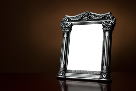 Decorative vintage picture frame with clipping path photo