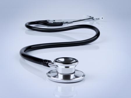 Stethoscope on blue Stock Photo - 10564309