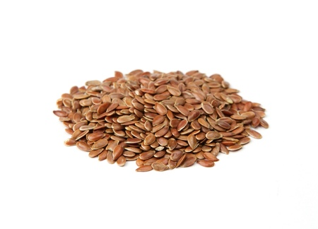 flaxseed: Linseed isolated on white background