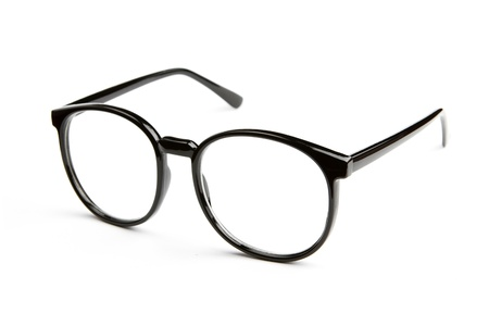 myopic: Eyeglasses isolated on white background