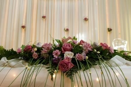 Wedding table decoration photo