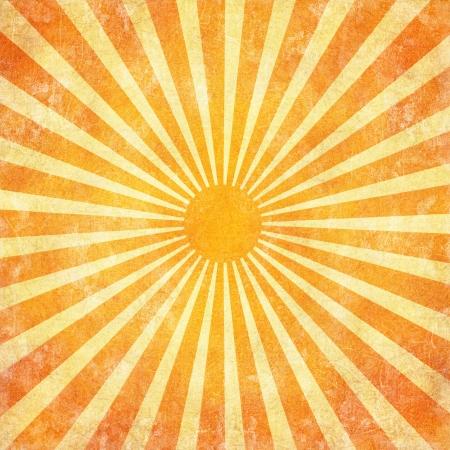 Grunge sun rays background photo