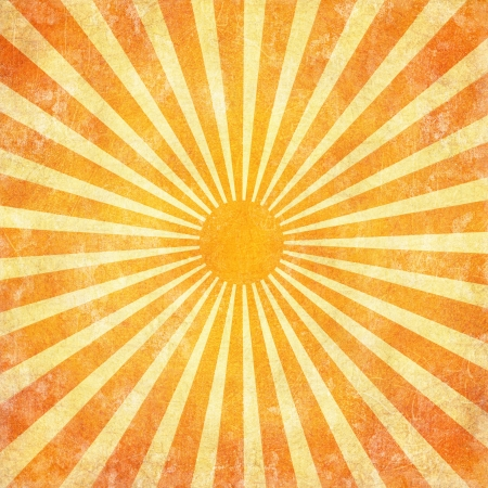 radial: Grunge sun rays background