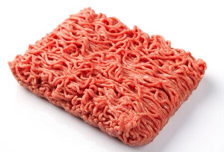 carne picada: Cerca de las carnes frescas y de carne fresca picada Foto de archivo
