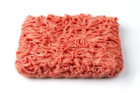 carne picada: Cerca de carne fresca carne picada cruda
