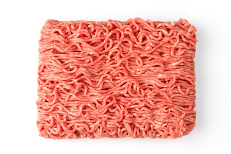 minced: Close up of fresh raw minced beef meat