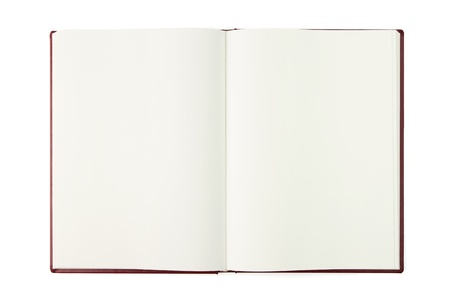 Opened blank book isolated Stock Photo