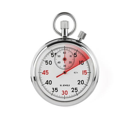 Stopwatch on white background with clipping path  Stock Photo