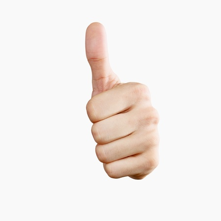 okey: Thumbs up! Isolated with clipping path Stock Photo