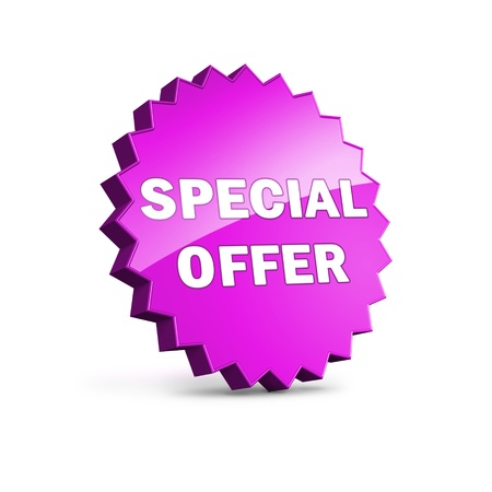 Star shape icon with Special offer sign photo