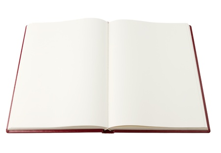 Opened blank book isolated with clipping path Stock Photo - 10942867