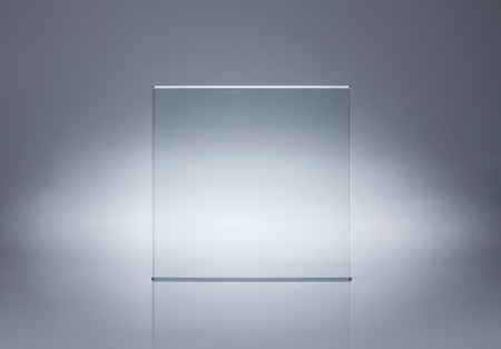 name plate: Photo of blank glass plate with copy space