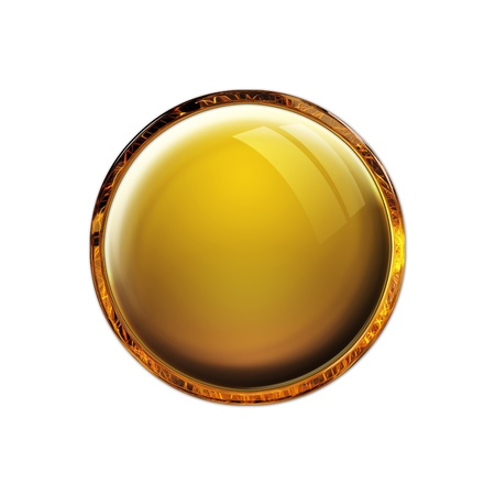 Blank antique amber gloss button Stock Photo - 11053674