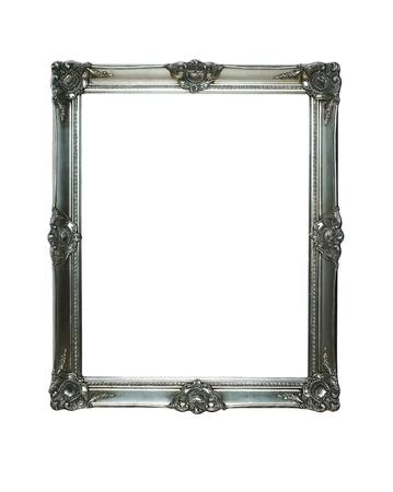 Marco de plata de la vendimia con dos trazados de recorte Foto de archivo - 11053678