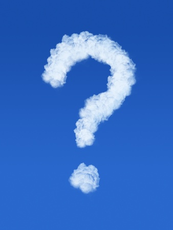 Clouds in shape of question mark photo
