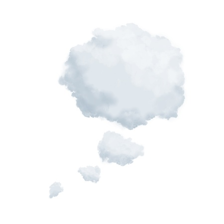 thought clouds: Thought bubble clouds isolated on white