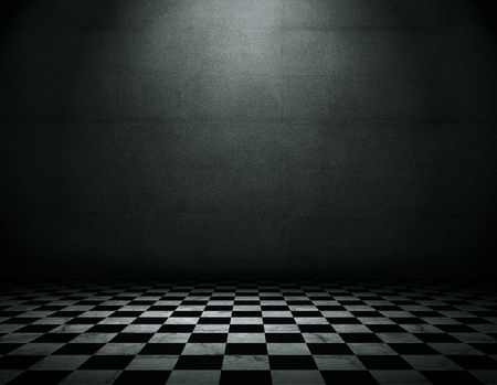 checker: Empty grunge room