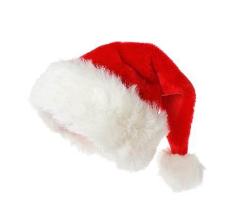 hat new year happy new year festive: Santa hat isolated on white background