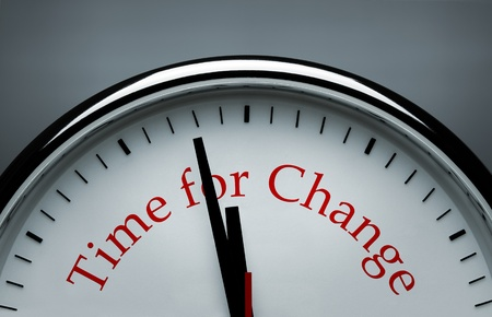 Time for Change clock Stock Photo - 11225065
