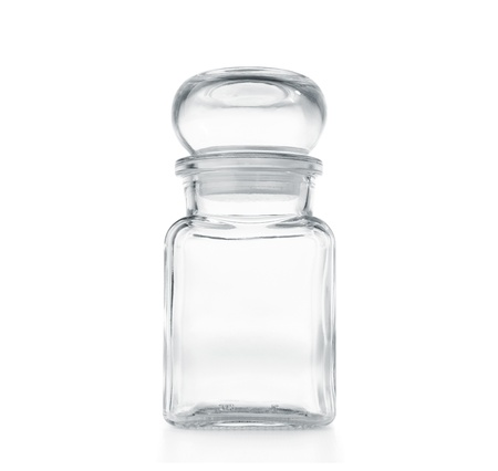 Empty glass jar isolated on white Stock Photo - 11225066