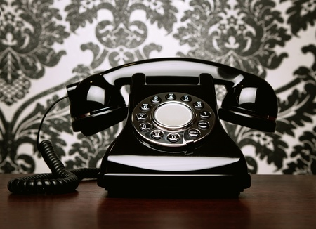 Vintage telephone at the desk Stock Photo - 11225071