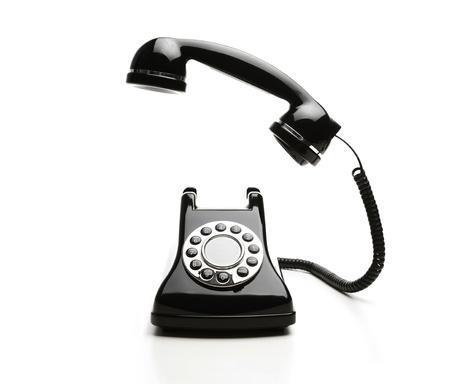 Old fashioned telephone on white background Stock Photo - 11326188