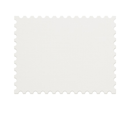 Blank postage stamp on white background photo