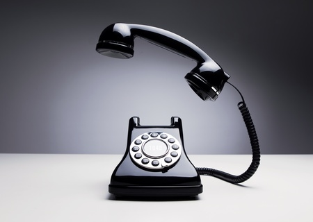 rotary phone: Retro telephone ringing