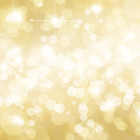 Gold defocused lights background photo