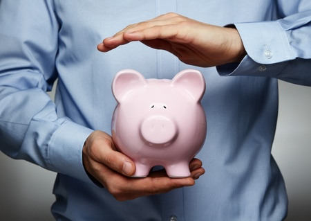 investment protection: Savings protection Stock Photo