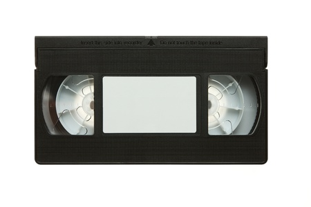 Blank video cassette tape isolated on white background