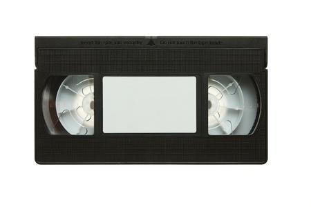 videofilm: Blank Videokassette auf wei�em Hintergrund Lizenzfreie Bilder