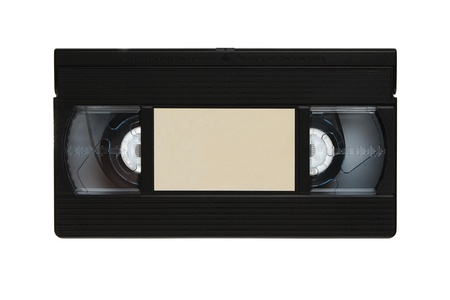 Blank video cassette tape isolated on white background photo