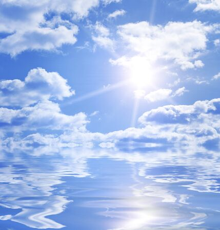 Calm endless water background with copy space Stock Photo - 11557745