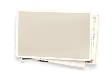 tarjeta postal: Vintage fotos en blanco con trazado de recorte para el interior