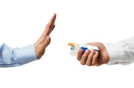 ¡No gracias! Dejar de fumar concepto Foto de archivo