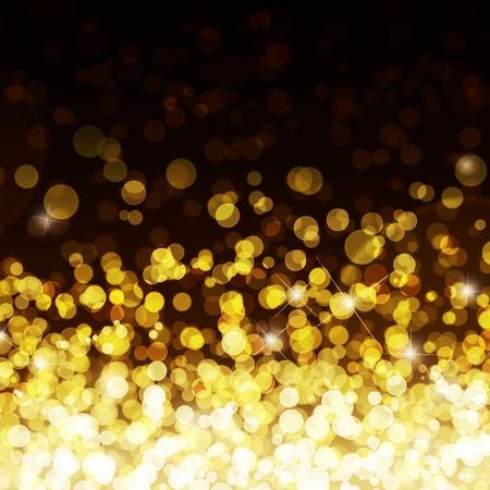 golden: Gold defocused lights background