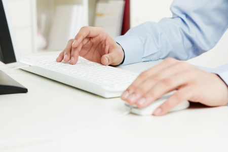 Close up of young adult working at the office Stock Photo - 11764082